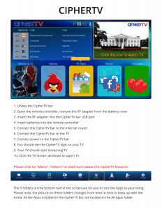 ciphertv features